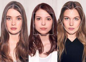Hair contouring exemple de forme de visage